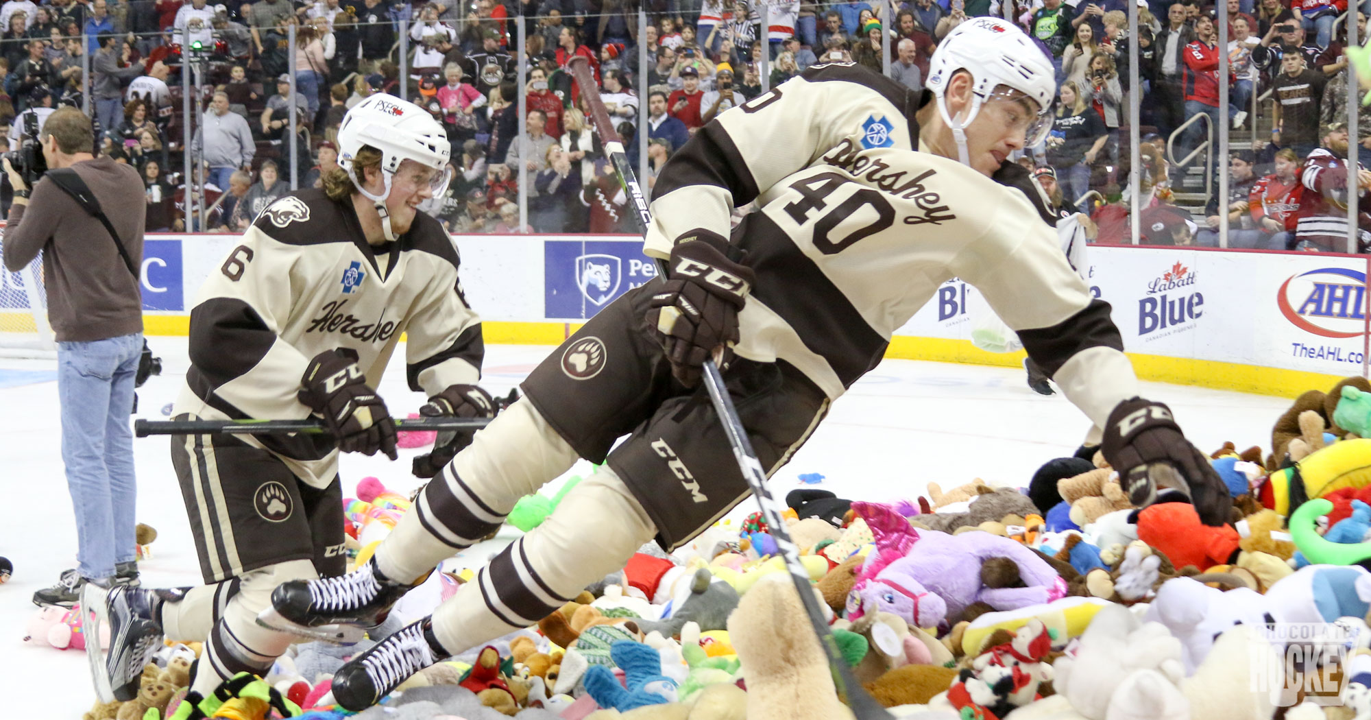 Hershey Bears fans set new record with 25,017 stuffed animals thrown