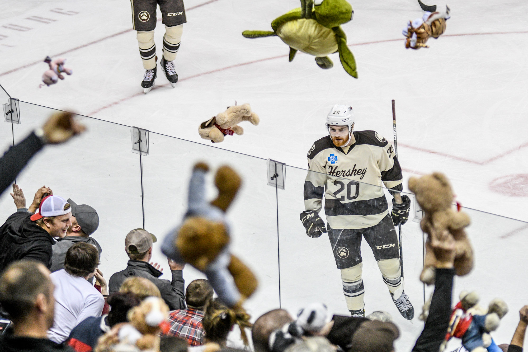 Hershey Bears Set Teddy Bear Toss Record 2017 2