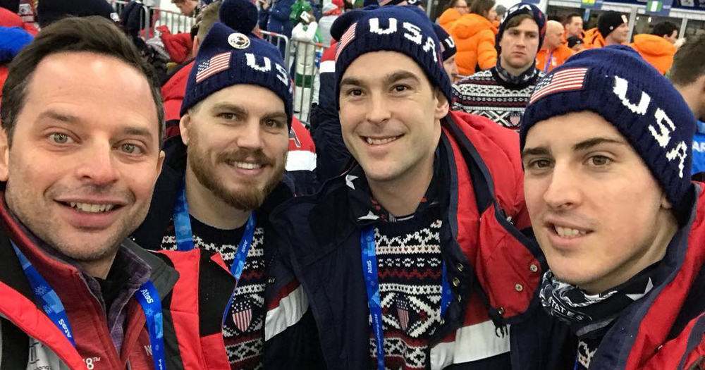 Chris Bourque Participates In Olympic Opening Ceremonies