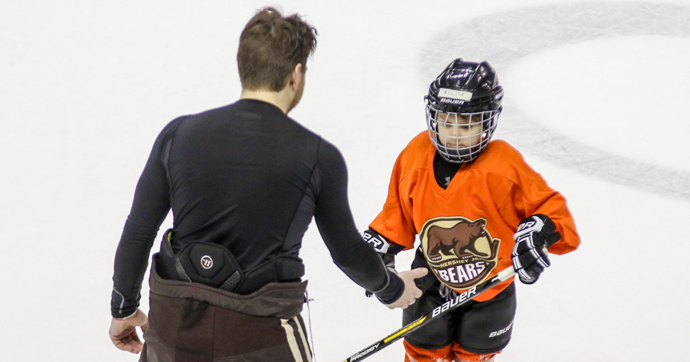 Chris Bourque's son picks Riley Barber as his favorite Hershey Bear (Video)