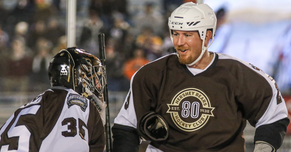 """The Mayor of Hershey"" Dean Arsene pulls on the Bears jersey one more time at Alumni Game"