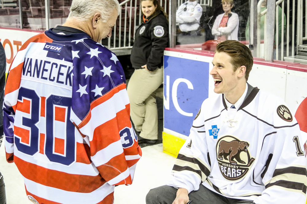 Adam Carlson Shares A Laugh With A Fan Who Recently Purchased One Of The USA Jerseys