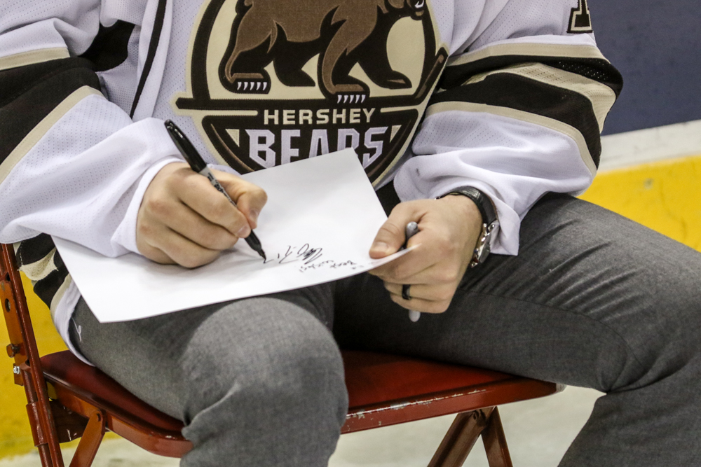 Chris Bourque Writes A Message To One Of His Fans
