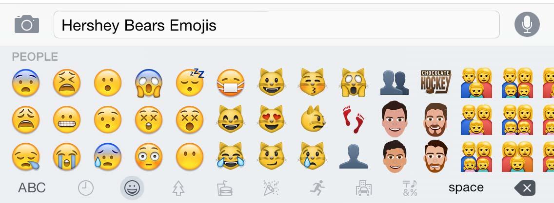 hershey bears emojis