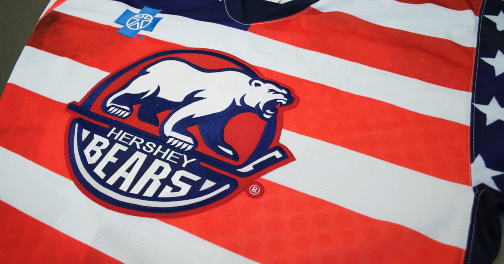 Up close and personal with the Hershey Bears Veterans Day jerseys (photos)