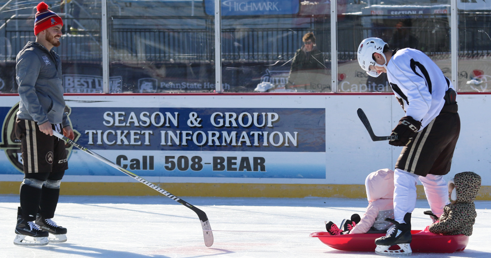 Hershey Bears family skate provides special memories at outdoor rink