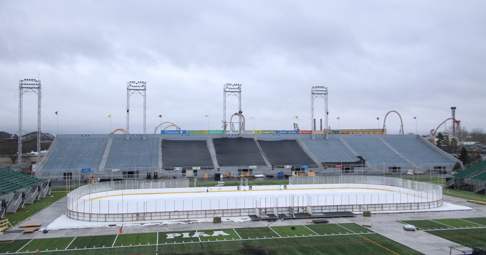 Preparations continue at Hersheypark Stadium for 2018 Outdoor Classic