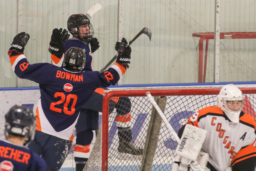 Caden Freer Celebrates His Second Period Goal