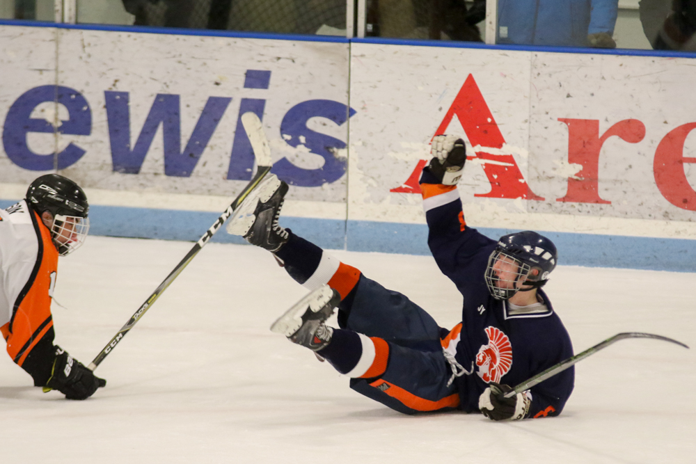 Carsyn Keyler Celebrates His Third Period Goal.