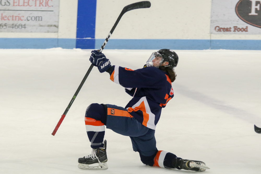 Sabatino Iannarello Celebrates His First Goal Of The Night.