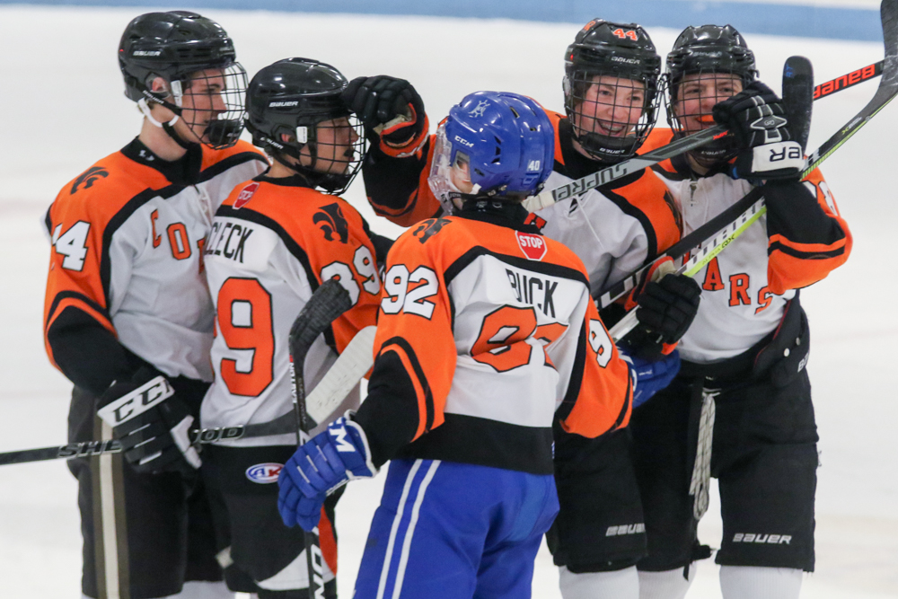 Bryson Russell And Teammates Celebrate Palmyra's First Goal Of The Night