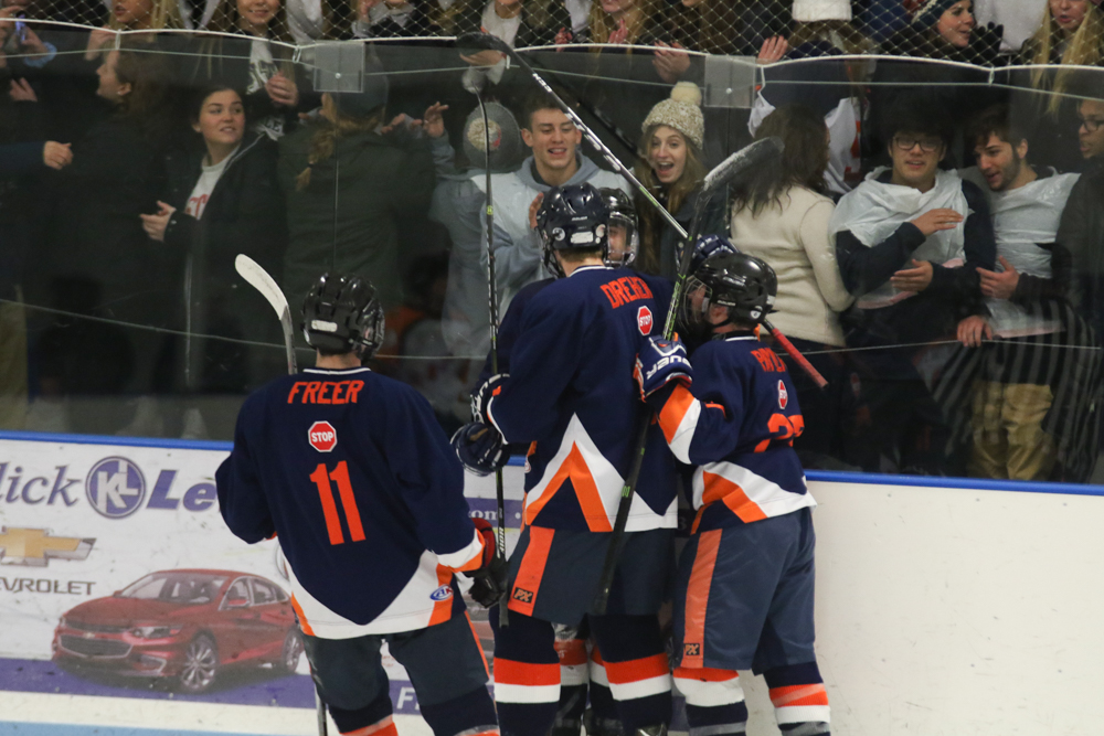 Hershey's Student Section Celebrates Iannarello's Second Goal
