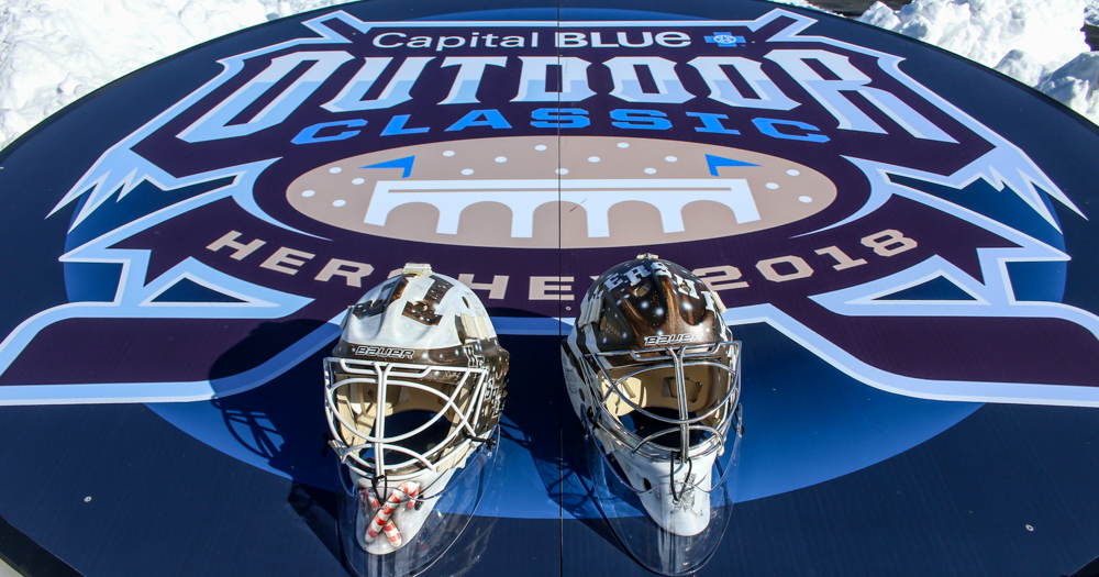 Check out Pheonix Copley's and Vitek Vanecek's new Outdoor Classic masks