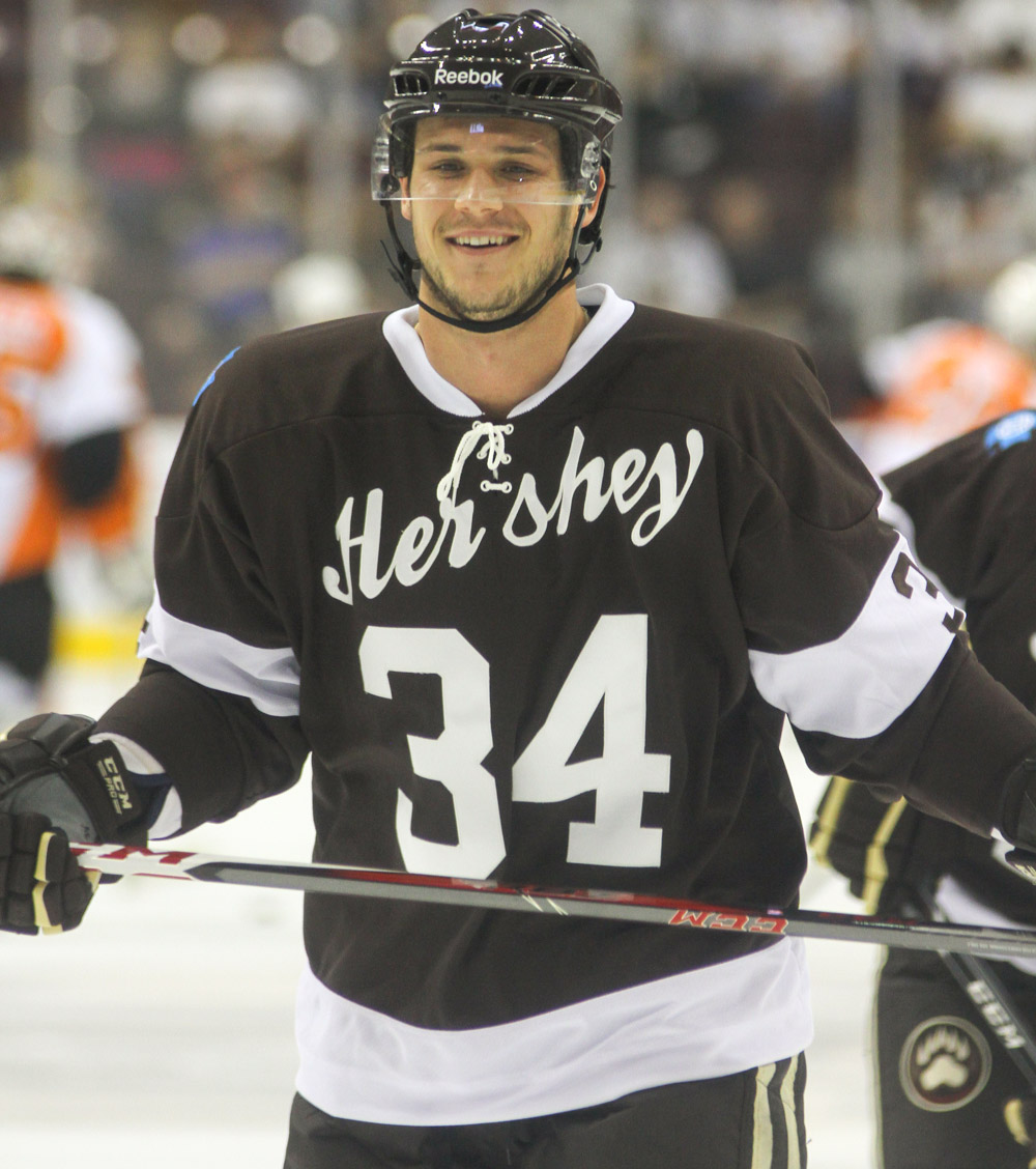 new arrival 025b9 c0d8f Hershey Bears Auction Off Retro Jerseys